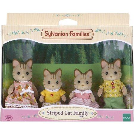 EPOCH Traumwiesen Sylvanian Families: Striped Cat Family