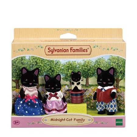EPOCH Traumwiesen Sylvanian Families: Midnight Cat Family