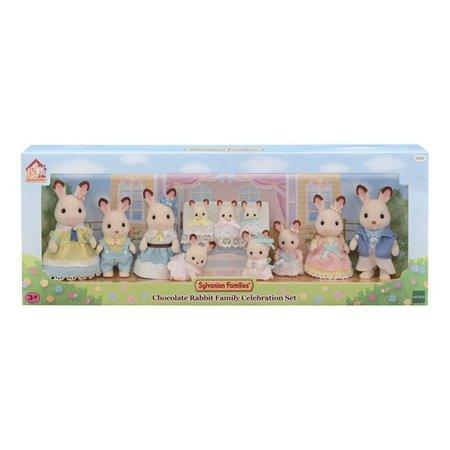 EPOCH Traumwiesen Sylvanian Families: Chocolat Rabbit Family Celebration Set