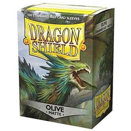 Arcane Tinman Dragon Shield Sleeves: Olive Matte