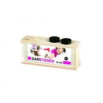 Damschijven 35 mm in Blank Houten Kist