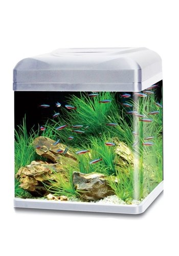 HS Aqua aquarium lago 50 LED zilver