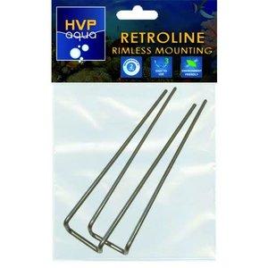 HVP Aqua HVP Aqua RetroLINE Rimless montagebeugels set 2 stuks