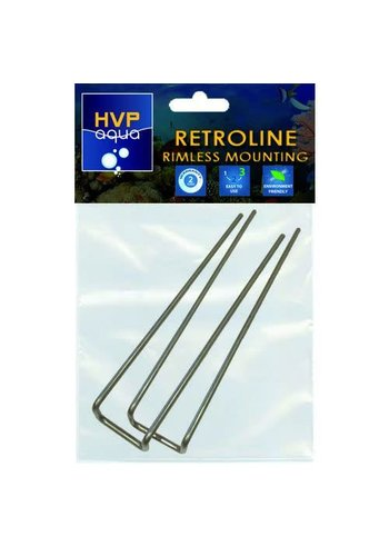 HVP Aqua  RetrolineRimless montagebeugels set 2 stuks
