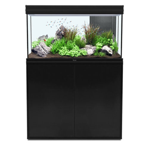 aquatlantis aquatlantis fusion 100 aquarium zwart set met LED
