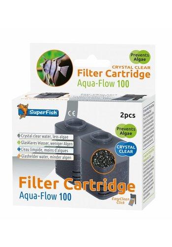 SuperFish Aqua-Flow 100 Crystal Clear Cartridge 2 stuks