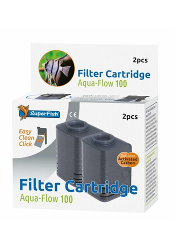 SuperFish Aqua-Flow 100 Easy Click cartridge 2 stuks