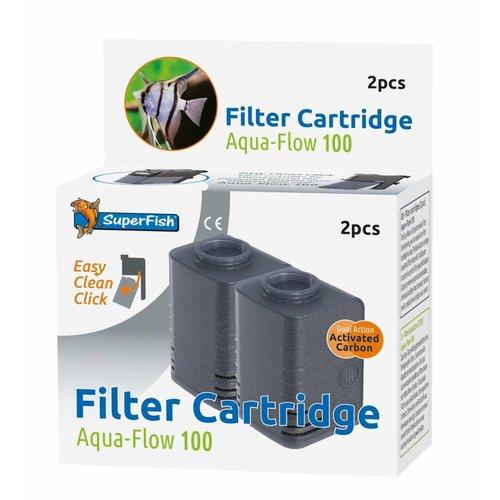 SuperFish SuperFish Aqua-Flow 100 Easy Click cartridge 2 stuks
