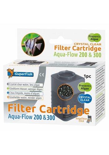 SuperFish Aqua-Flow 200/300 Crystal Clear Cartridge 1 stuk