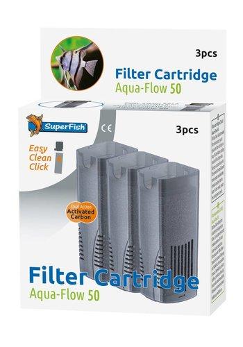 SuperFish Aqua-Flow 50 Easy Click Cartridge 3 stuks