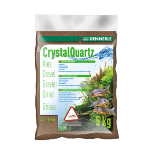 Dennerle Dennerle Kristal Grind Donkerbruin 1-2 mm 5 kg Bodemmateriaal