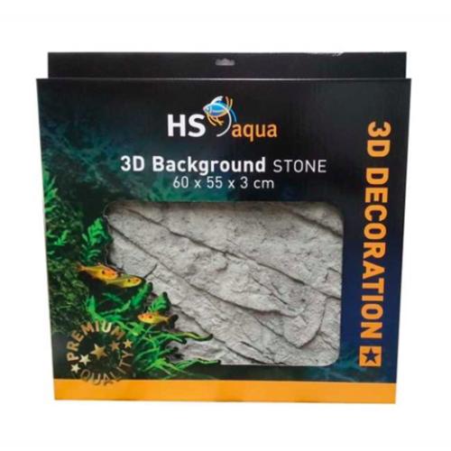 HS Aqua HS Aqua 3D Background Stone grey 60 x 45 x 3cm