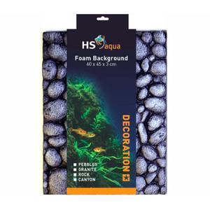 HS Aqua HS Aqua Foam Background pebbles grey 60 x 45 x 3 cm