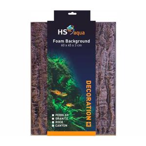 HS Aqua HS Aqua Foam Background rock brown 60 x 45 x 3cm