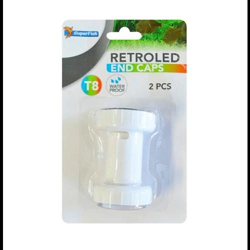 SuperFish SuperFish Retro LED waterdichte dop T8 2 stuks