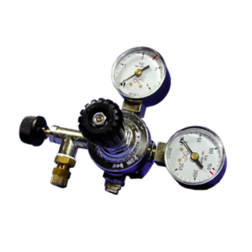 D-D D-D CO2 Reguator with 2 Gauges + Pinwheel Adjustment