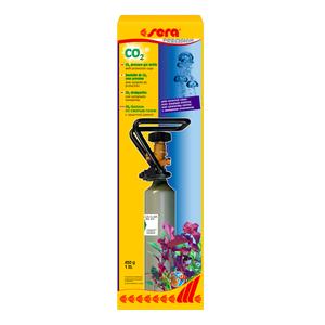 Sera Sera CO2-drukgasfles met uitwendig ventiel en draaggreep (cage) 450 g
