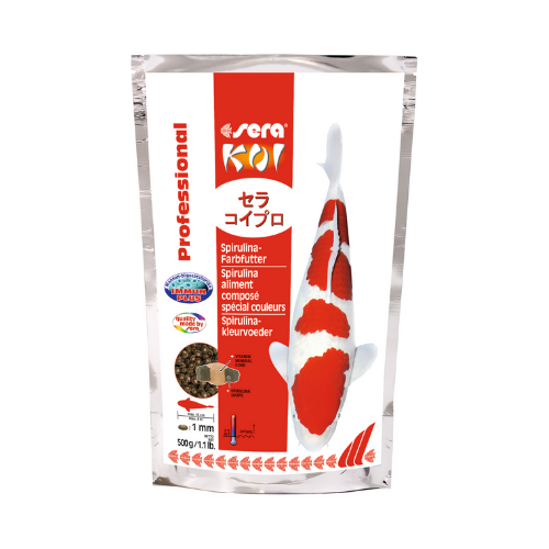 Sera Sera Koi Professional Spirulina-kleurvoeder 500 g