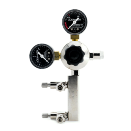 Aqua-Noa Aqua-Noa CO2 drukregelaar Profi M2 met 2 Fijn naadventielen aansluitschroefdraad: B 21,8x1 / 14