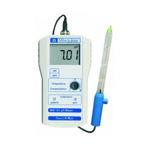 Milwaukee Milwaukee Portable pH meter 0,00-14,00 met 2 punt manuele calibratie, incl electrode