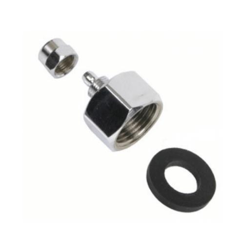 """Aqua Holland Sterke, metalen kraanaansluiting 3/4"""" schroefdraad met rubber ring"""