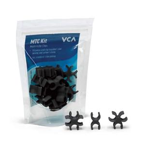 Vivid Vivid Multi Tube clips Lava Rock Black (15 piece Kit)
