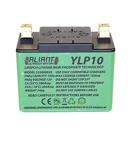 Aliant Battery YLP10 (To Fit Vtwin & V4 models RSV4/Tuono)