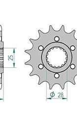 Afam 16T Front sprocket to Fit Dorso/Shiver