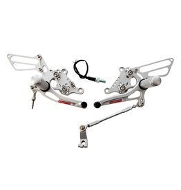 AP workshops AP Workshops Gen 1 Rearsets Silver (To Fit RSV 98-03/Tuono 02-05)