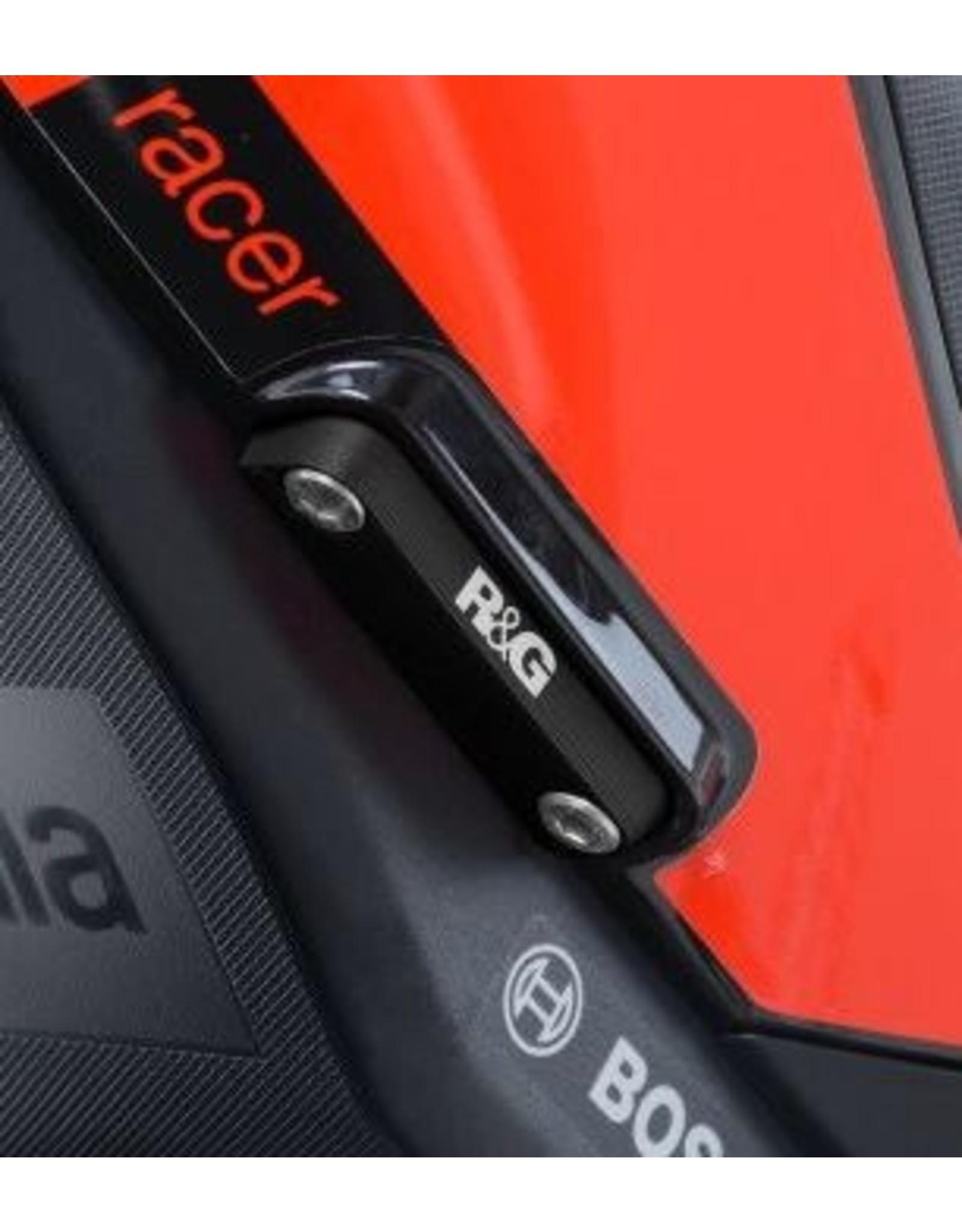 R & G RS 660 / V4 Rear Footrest Blanking Plate Kit BLP0038BK