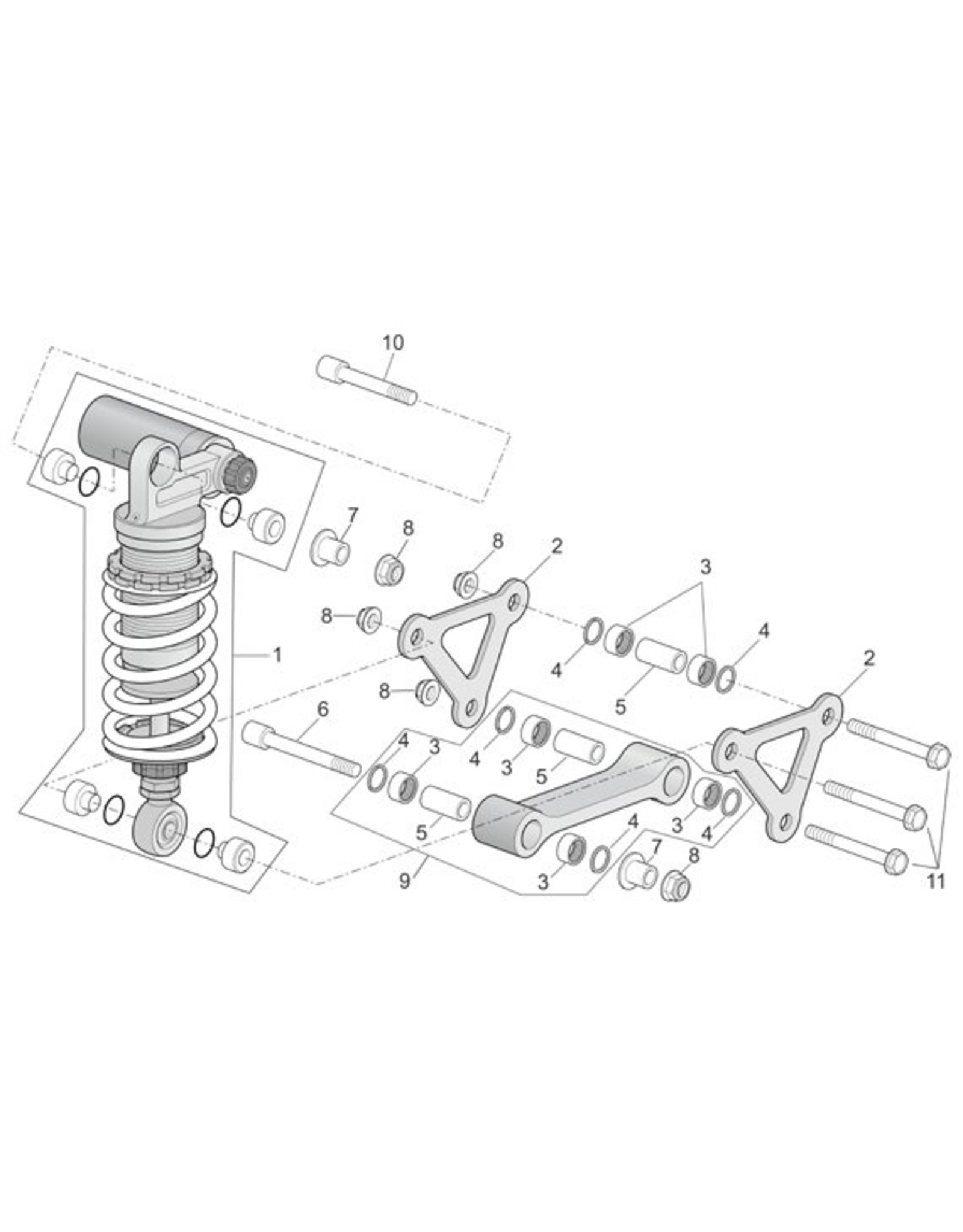Aprilia Suspension Bearing Kit Gen 1 (RSV98-03 / Tuono 02-05)