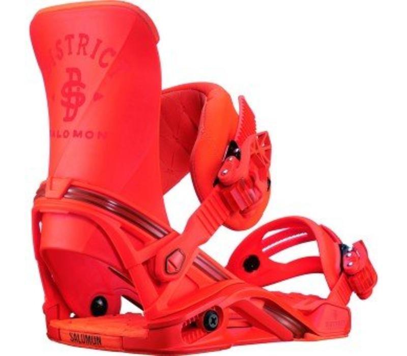 Salomon District Orange Snowboard Binding