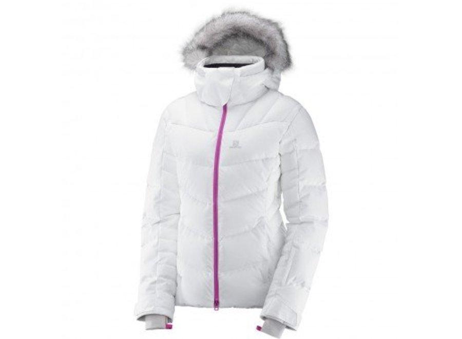 Salomon Icetown Womens Jacket White Heather