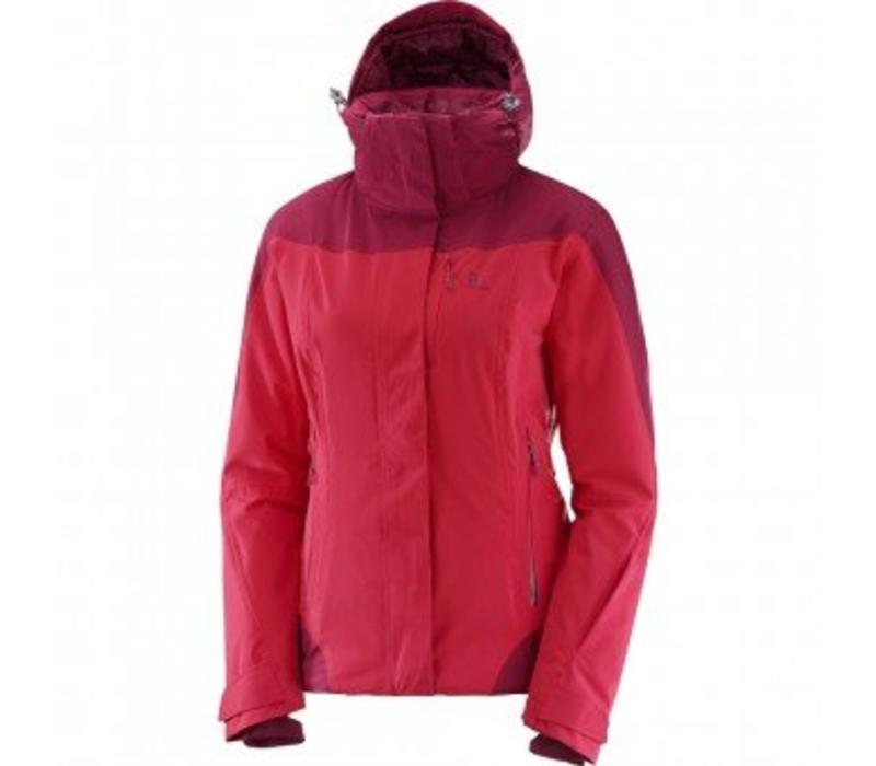 Salomon Icerocket Wmns Jacket Jalapeno Red/Beet Red