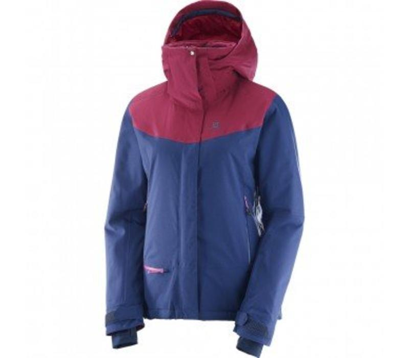 Salomon Qst Snow Wmns Jacket  Medieval Blue/Beet Red