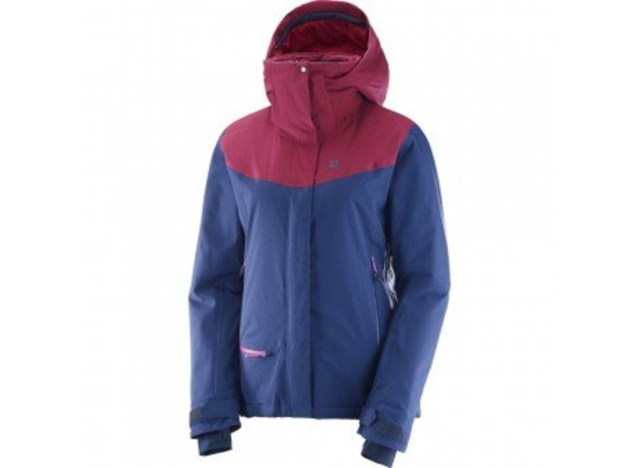 Salomon Qst Snow Wmns Jacket  Medieval Blue/Beet Red