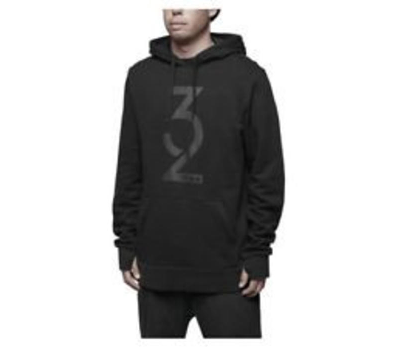 MARQUEE HOODED PULLOVER Black