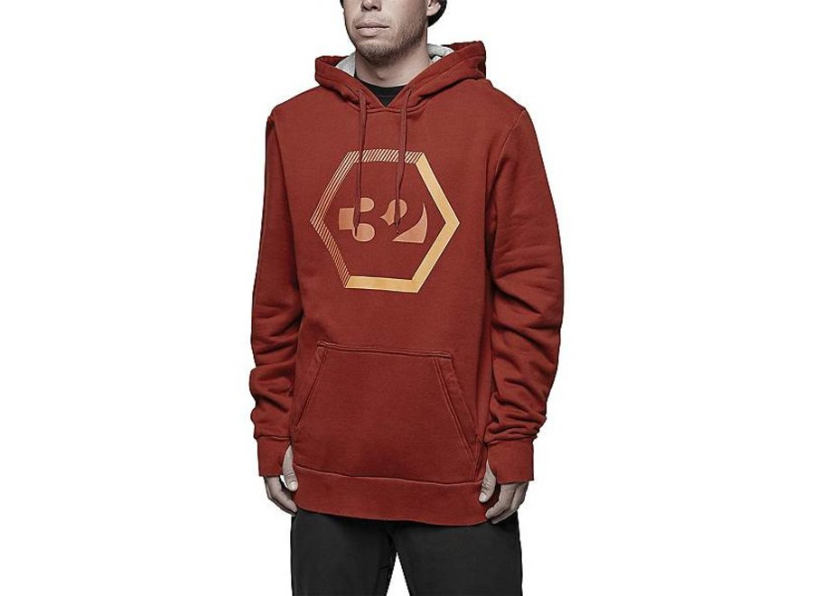 Thirtytwo Marquee Hooded Pullover Oxblood