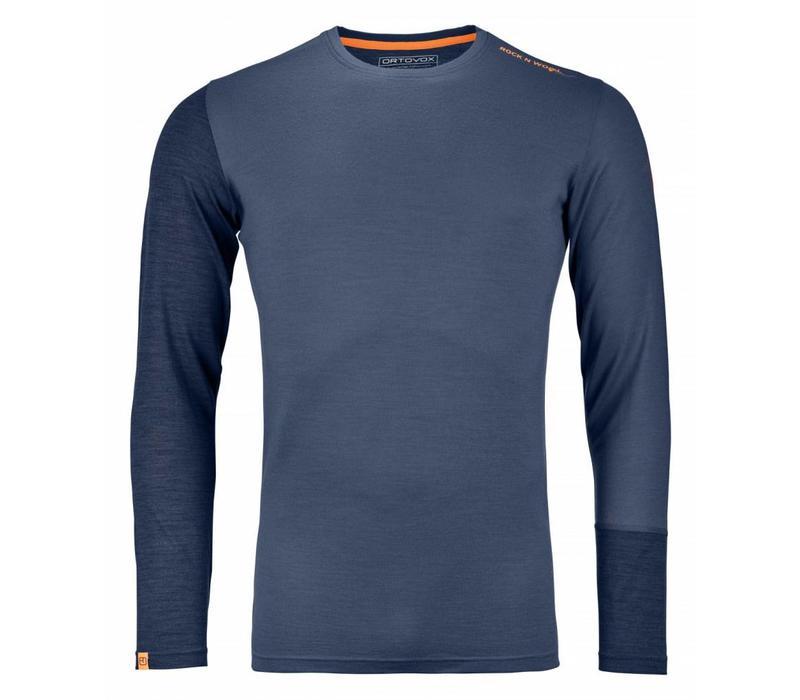 Ortovox Rock N Wool Mens Long Sleeve Night Blue