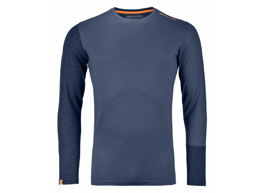 Ortovox Rock N Wool Mens Long Sleeve Night Blue