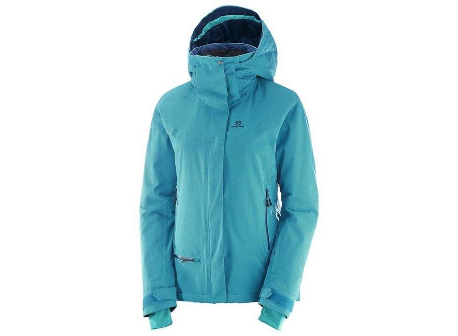 Salomon Qst Snow Wmns Jacket  Enamel Blue