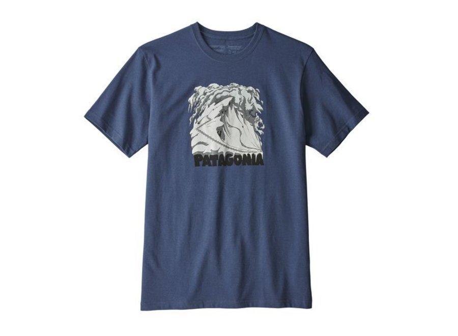 Patagonia M'S Cornice Canvas Responsibili-Tee Blue