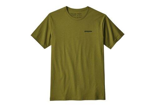 PATAGONIA M's P-6 Logo Organic T-Shirt GREEN