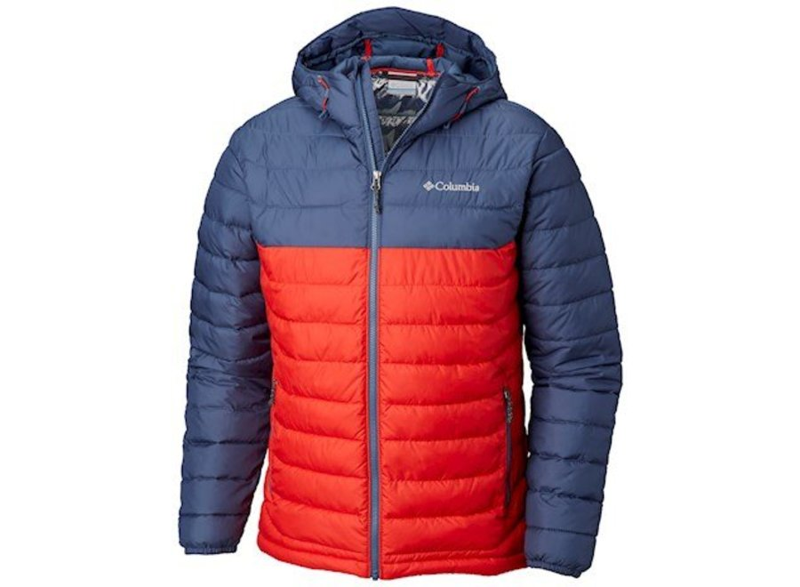 Columbia Powder Lite Hooded Jacket Red Spark