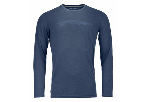 ORTOVOX Ortovox 185 Rock N Wool Long Sleeve Nblue