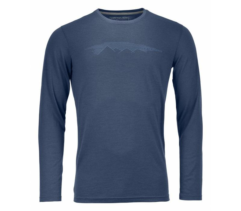 Ortovox 185 Rock N Wool Long Sleeve Nblue