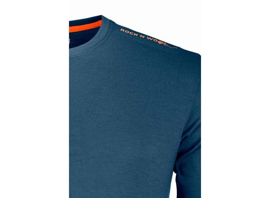 Ortovox 185 Rock N Wool Short Sleeve Nblue