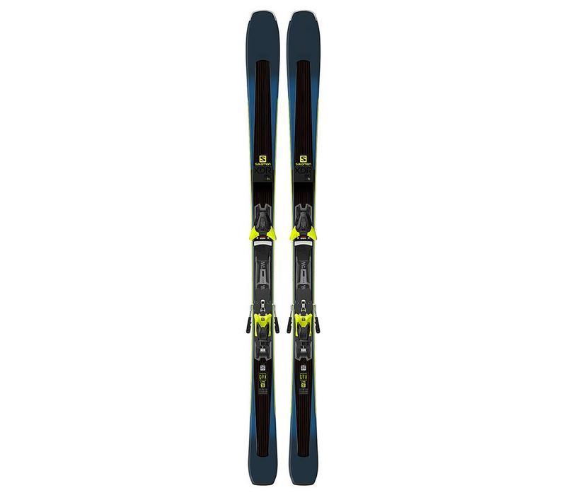 Salomon Xdr 80 Ti Ski + Z12 Walk Binding Black