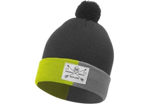 BUFF Kelda Grey Jnr Knitted Hat
