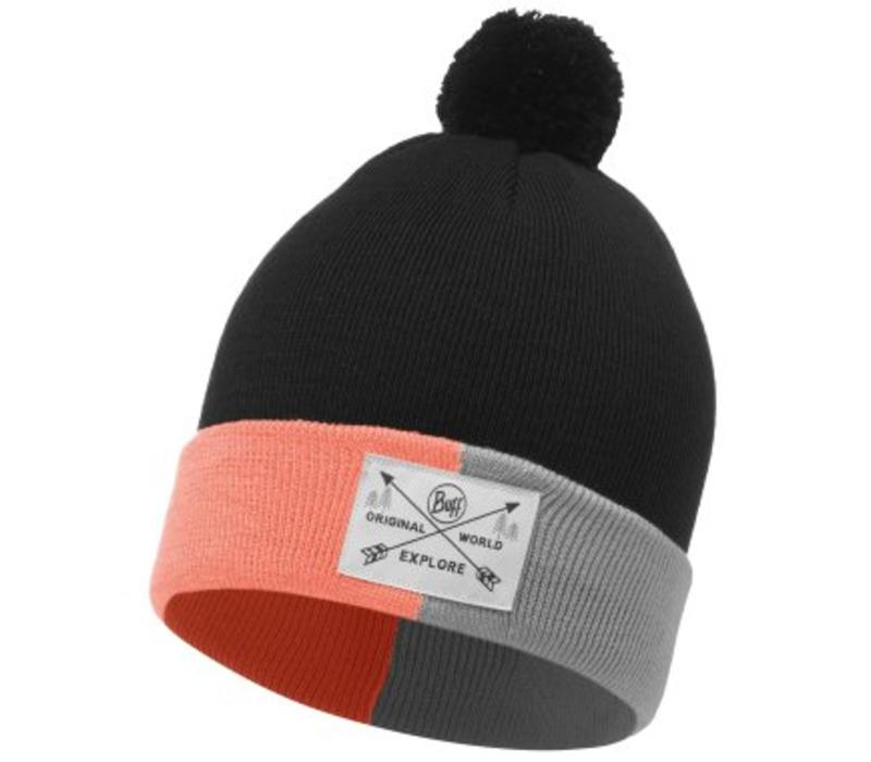 Buff Kelda Graphite Jnr Knitted Hat